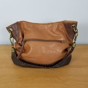 The Sak | Tan & Brown Hobo Patchwork Handbag